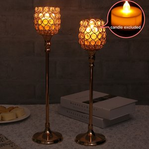 Crystal Candle Holder Stand Wedding Table Centerpieces Tealight Candlesticks for Home Decoration