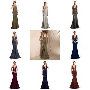 2020 New Luxury imagem real Mermaid Prom Dresses V Neck Bling Lace Contas de Cristal espartilho Back Cutaway Sides Formal vestido de festa vestidos de noite