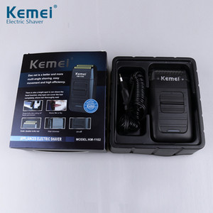 2019 New Kemei KM-1102 Rechargeable Cordless Shaver for Men Twin Blade Reciprocating Beard Razor Face Care Multifunction Strong Trimmer