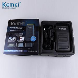 2019 جديد kemei KM-1102 قابلة للشحن اللاسلكي ماكينة حلاقة للرجال التوأم بليد الترددية اللحية الحلاقة الوجه العناية متعددة الوظائف قوي المتقلب