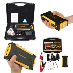 자동차 점프 스타터 힘 은행 69800Mah 파워 인버터 12V 휴대용 배터리 부스터 4 USB 전원 은행 LCD 화면 나침반 주도 손전등 캠프