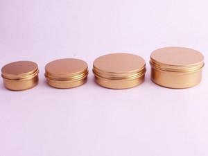 50ML / 60ML / 100ML / 150ML 알루미늄 화장품 크림 용기 로즈 골드 금속 주석 연고 리필 항아리 알루미늄 립스틱 포장 냄비 도매