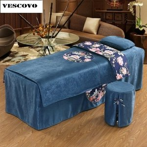 Favor Beauty Salon Beauty Breadspread التطريز 70 * 190cm Bed Skint Cover for Beail Bed T200326