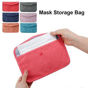 1 Pc Mask Storage Bag Dustproof Cloth Holder Mask Case Container for Bedroom Living Room Home