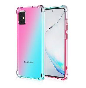 Custodia antiurto Gradiente colore doppio trasparente TPU per Samsung A10S A10E A20S A20E A50 A51 A70 S7 Bordo Google pixel4 XL One Plus