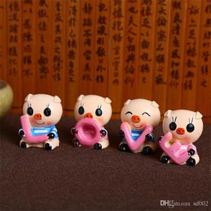 연인 Piglet 케이크 수 지 디자인 공예 용품 Prop 이미지 아트 작업 부품 장식품 Cartoon Valentines Day Car Interior Decoration 3 4xmE1