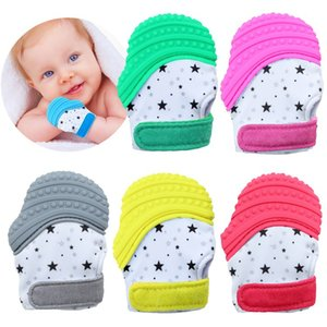 YE1011X2 Chupetas Teethers Novo produto vendedor quente de luvas de borracha baby baby moagem produtos do bebê atacado