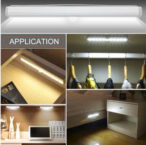 Led bajo el gabinete de luz con lámpara de sensor de movimiento PIR 6/10 LEDs 98/190 mm iluminación para armario armario armario cocina luz de noche