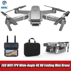 fotocamera GPS Drone 4K RC pieghevole Drones Regolazione HD 50x zoom obiettivo Grandangolo E68 WIFI FPV RC Quadcopter regalo per gli adulti 1080p