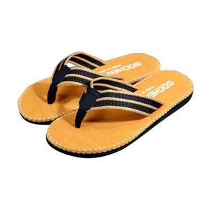 Zapatillas de hombre casa flip chanclas rayas flip chanclas zapatos de verano sandalias masculinas zapatillas flip-flujos colorido plano playa zapatos