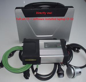 Melhor laptop usado CF52 CF52 2020 versão soft-ware 360G carro super SSD + MB Estrela C5 multiplexer MB ESTRELA C5 Automotive diagnóstico