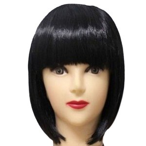 Women Short BOB Hair Wig Straight Bangs Cosplay Party Stage Show 13 Colors Party Supplies