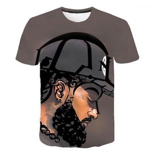 Manga Tops rapero americano 3D camisetas hombres mujeres verano Nipsey Hussle Casual camisetas cortas