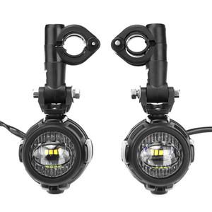 LED moto auxiliaire antibrouillard en alliage d'aluminium de sécurité de conduite Lampe spot pour BMW R1200GS ADV F800G