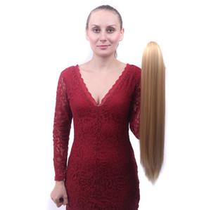 Europäische und amerikanische Simulation weiblichen langen geraden Haar fangen Pferdeschwanz unsichtbar realistisch Klaue Clip Art der chemischen Faser Haar
