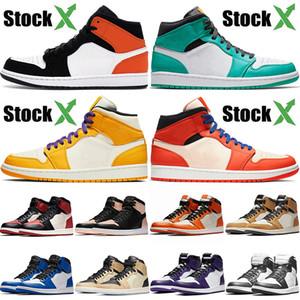 Nike Air Jordan Retro 1 1s Top OG Jumpman 1 Pine Green Game Royal Hombres Zapatillas de deporte Zapatillas de baloncesto Mujer Court Purple Premium Crimson Tint Designer Sneakers