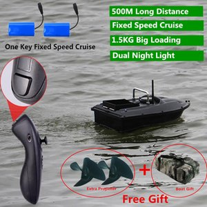 Constant Speed Cruise Function 500m Smart Lure Fishing Remote Control Fishing Bait Boat Auto RC Remote Control Fishing Bait Boat MX200414