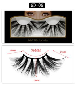 Newest 6D Mink lashes thick natural long mink 3D hair false eyelashes soft & vivid mink fur hair 10 styles available drop shipping