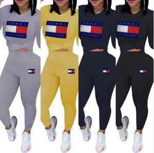 Frauen Hoodie Pantsuit Outfits Frauen Tops Hosen Pullover Legging Zweiteiler beiläufige Sport-Anzug Herbst-Winter-Kleidung 665