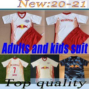 Adult & Kids suit 20-21Leipziges Soccer Jersey WERNER Home Away white black RB FORSBERG HALSTENBERG SABITZER uniforms Football Shirt jerseys