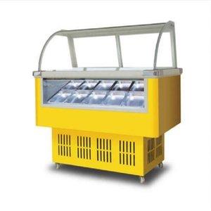 Самый продаваемый коммерческий 220V морозильный горизонтальный шкаф для мороженого 170W popsicle ice porridge display cabinet