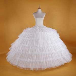 Big White Petticoats سوبر منتفخ الكرة ثوب انزلاق السفلات للبالغين الزفاف اللباس الرسمي كبير 6 الأطواق طويلة الكرينول العلامة التجارية الجديدة