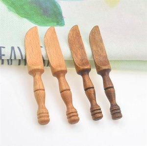 Madeira Faca Jantar facas Louça Máscara de madeira da faca Jam faca de manteiga salada pasta de revestimento Cutelaria de madeira