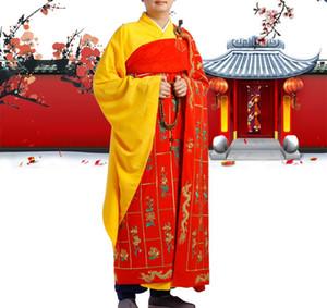 Shaolin monge bordado vestes batidas mil do dragão do milênio ternos buda budista leigos roupas zen bênção uniformes