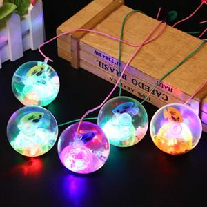 5.5cm intermitente de goma de rebote bola luminosa bolas Poprygunchik bola antiestrés de luz LED Anti Stress bola de la diversión juega para los niños