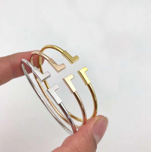 amor pulseras de oro de la moda vierten Hommes brazaletes del encanto pulsera braccialetto para hombre y mujeres amantes de la boda de diamante de regalo de la joyería de tenis
