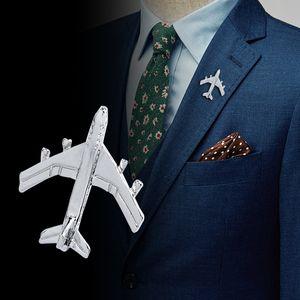 Parlak Uçak Broş Pin Badge Uçakları Broş Gömlek Rozetler Erkekler Suit Elbise Yaka Sticker Mücevher Hediyelik Toptan