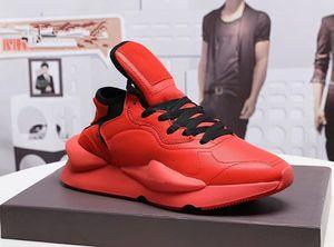 Erkek eğitmenler Y3 Ayakkabı Kaiwa Chunky Sneakers Kanye Erkek Kadın Günlük Spor Açık lüks Y3 Kusari II Leathe Boots Sneakers y4 Koşu