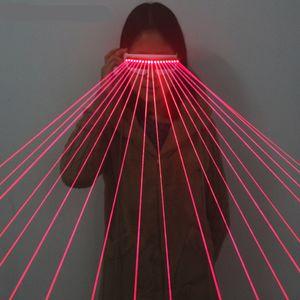 650nm Laser Red Óculos / luminescentes Óculos / 18pcs Laser afluxo de pessoas Necessary Stage piscando Óculos