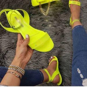 NouC Heißer Sommer Frauen Sandalen Mode Neon Hausschuhe Neue Hohe Qualität Flache Schuhe Pantoffel Whosale Frauen Sandalen Drop Ship