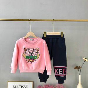 Enfants Set Vêtements Hoodie Mode unisexe Enfants + Pantalons Survêtements Garçons Filles Lettre Thick Tiger broderie Costumes Casual 2019