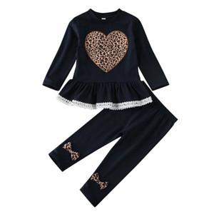 День святого Валентина Малыш Baby Girls одежда малыш девушки любят кружевные топы платье лук брюки Брюки хлопок наряды набор