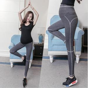 Sexy Lady Sports Pants Plus Size maternidade Calças Gestantes Yoga Suporte Calcinhas Belly estiramento Legging Run roupa ocasional