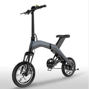 Mini Electric Bike für Erwachsene 14 Zoll zwei Rad Elektrische Fahrrad 350 Watt 36 V E Bike Faltbare Roller Schwarz / Rot/Orange