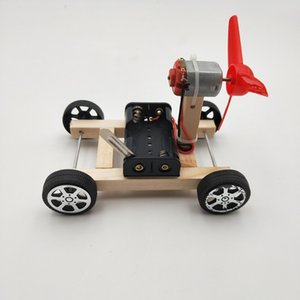 DIY Wind-Energien-Auto Klein Production Science and Technology Educational Modell Montiert Spielzeug kreative Neuheit-Geschenke für Kinder C1176