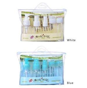 5 unids / set Portátil Vacío Plasic Botellas Rellenables Kit de Viaje Maquillaje Cosmético Aerosol loción Frascos Botella Botella Mini Botella de Perfume