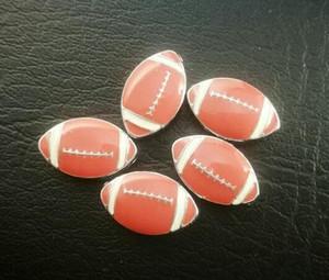 Atacado 100 pçs / lote 8mm futebol Americano esporte slide charme apto para 8 MM pulseira de couro pulseira de moda jóias