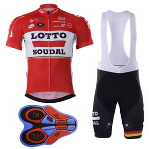 2020 hommes Racing ensembles de costume 2016 équipe vêtements cycliste loto maillot manches courtes Ciclismo Ropa Ciclismo hombre VTT jersey vélo + 1 BIB Shorts
