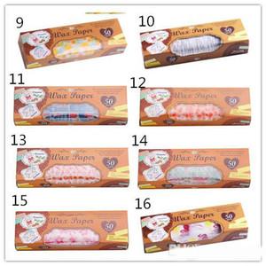 Hot Dining Bar 50 fogli / scatola Carta cerata Food Grade Grease carta per alimenti Wrapper Carta da regalo per il pane Fries panino hamburger oilpaper cottura