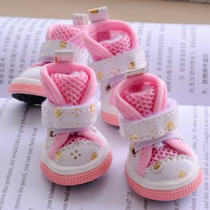 Shining Love Shoes For Dogs Of Small Breeds Summer Breathable Fashion Puppies Non-slip Pet Cats Boots Accessories 4PCS lot