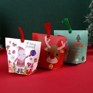 DIY Рождество конфеты коробка 10 стилей трехмерным связыванием дизайн Санта-Клауса Рождественская елка подарочная упаковка бумажная коробка бесплатная доставка