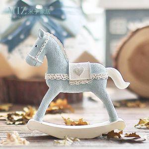 Miz Blue Horse Ручной Работы Игрушка для Детей Roly-poly Для Детей Рождественские Украшения Подарок На День Рождения Q190525
