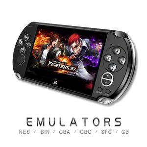 X9 5,0 polegadas Vídeo Game Console Grande Tela portátil jogador do jogo Suporte TV Out Coloque com MP3 / Câmara de Filmar Multimedia Video Game Console
