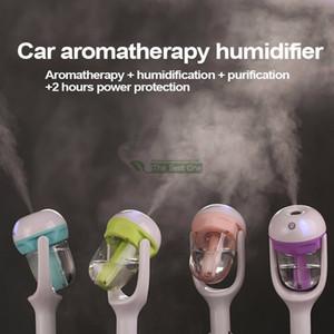 Car Aroma Diffuseur Humidificateur Portable Mini voiture Aromathérapie Humidificateur Air Fresher Purificateur Essential Oil Diffuseur