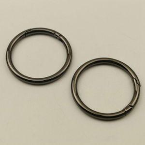 50/61 milímetros anel de metal O Cadeia Openable Primavera Carabiner Fivela Bag Belt Dog Strap Buckles snap Fecho Acessórios