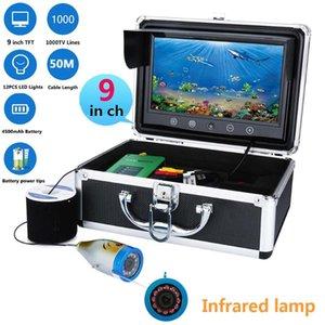 "9 "" Inch TFT 1000tvl Underwater Fishing Video Camera Kit IR 12 PCS LED Infrar Lights Video Fish Finder 20M 30M 50M"
